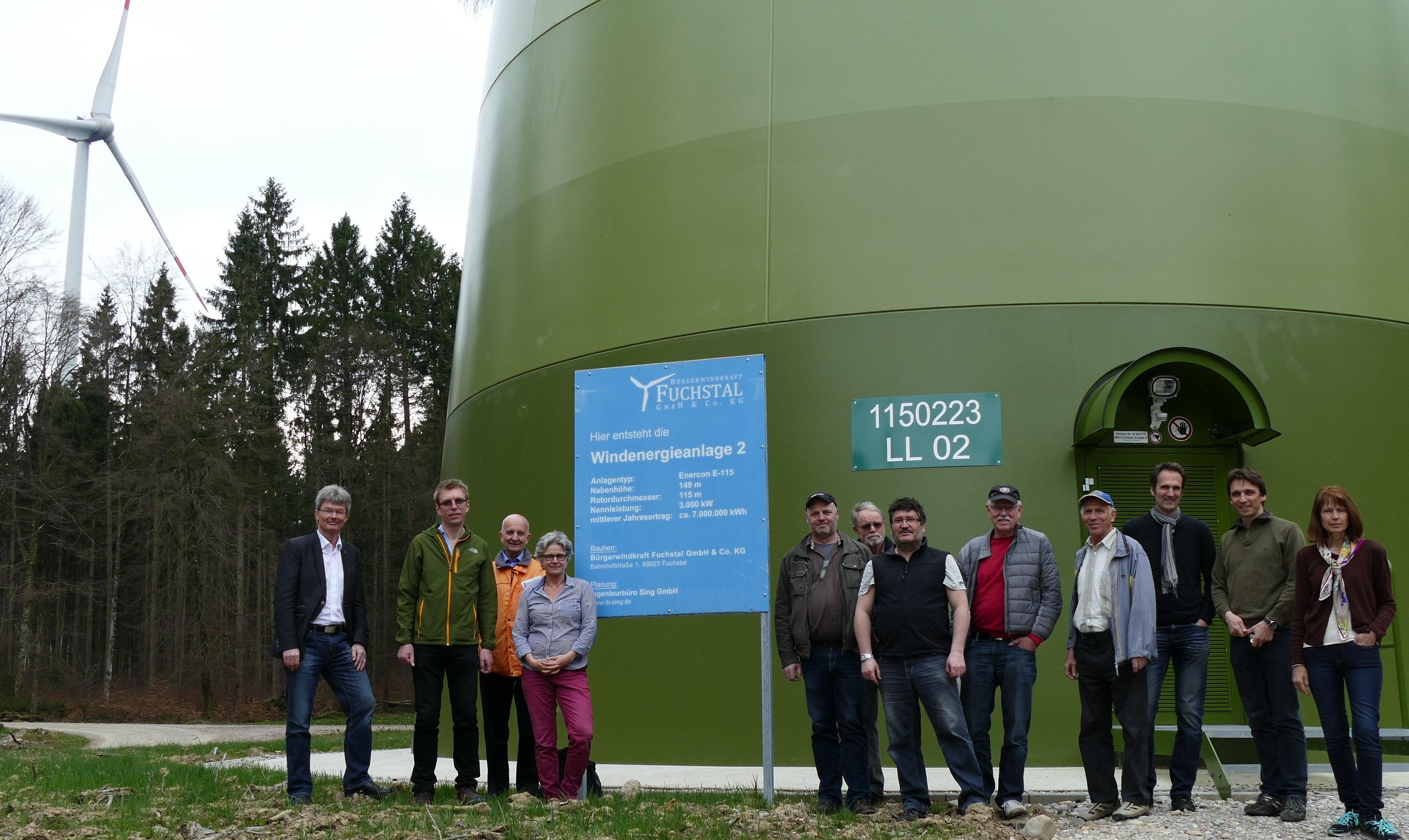 Energie für 8000 Haushalte – GAL lud zur Windkraftexkursion